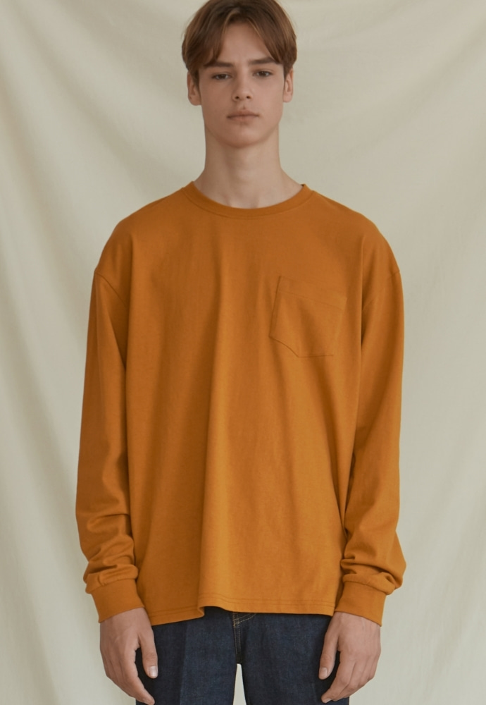 Garment lable가먼트레이블 GL Long Sleeve Tee - Mustard