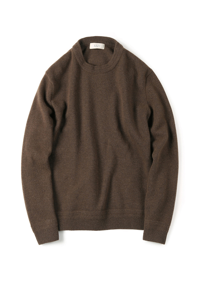 Shirter셔터 TASMANIA WOOL CASHMERE KNIT BROWN