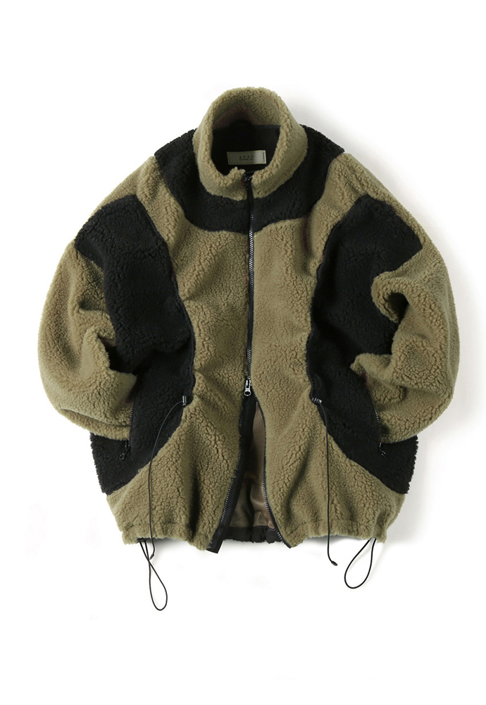 Shirter셔터 STRING FLEECE JACKET KHAKI