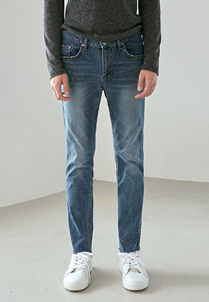 Yan13얀써틴 HIGH LIGHT SLIM STRAIGHT JEAN_DENIM