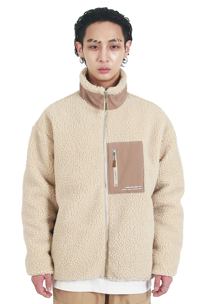 HFDD에이치에프디디 BOA DUMBLE WINTER FLEECE JACKET BEIGE
