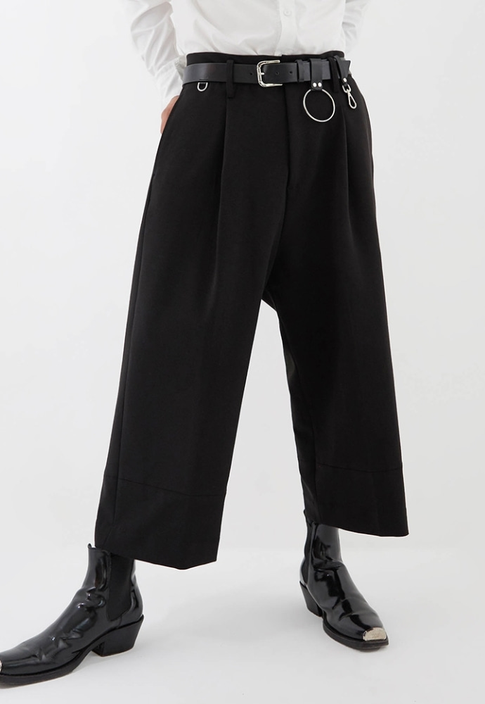 ADDOFF애드오프 Jet Pocket Wide Slacks - Black