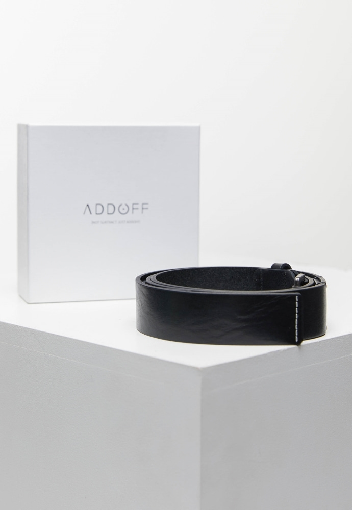 ADDOFF애드오프 Stitch Hidden Minimal Belt - Black