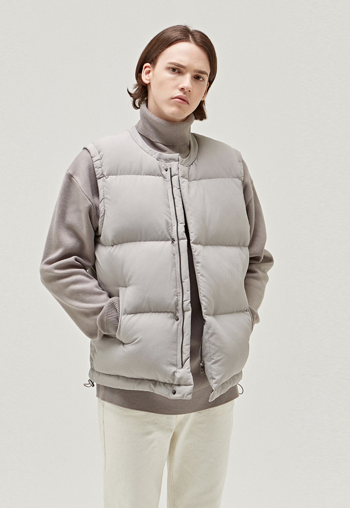 A.GLOWW에이글로우 HEAVY DUCKDOWN PADDING VEST_LIGHT GREY