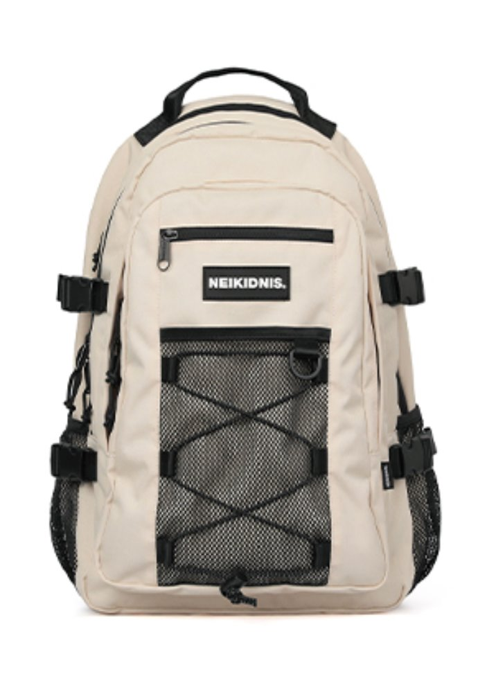 NEIKIDNIS네이키드니스 MESH STRING BACKPACK / LIGHT BEIGE