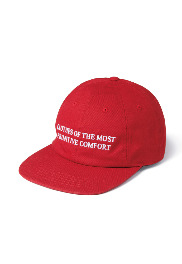 Ramolin라모랭 RML 8 Pannel Slogan Cap Red