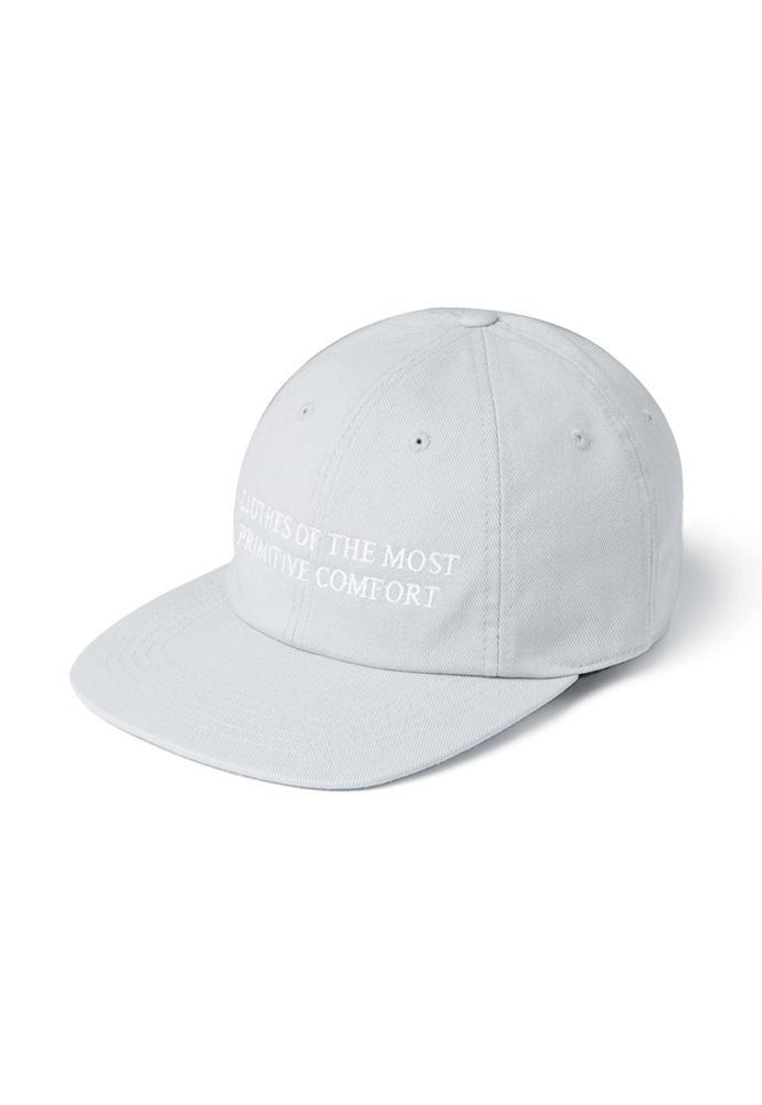 Ramolin라모랭 RML 8 Pannel Slogan Cap Ice Gray