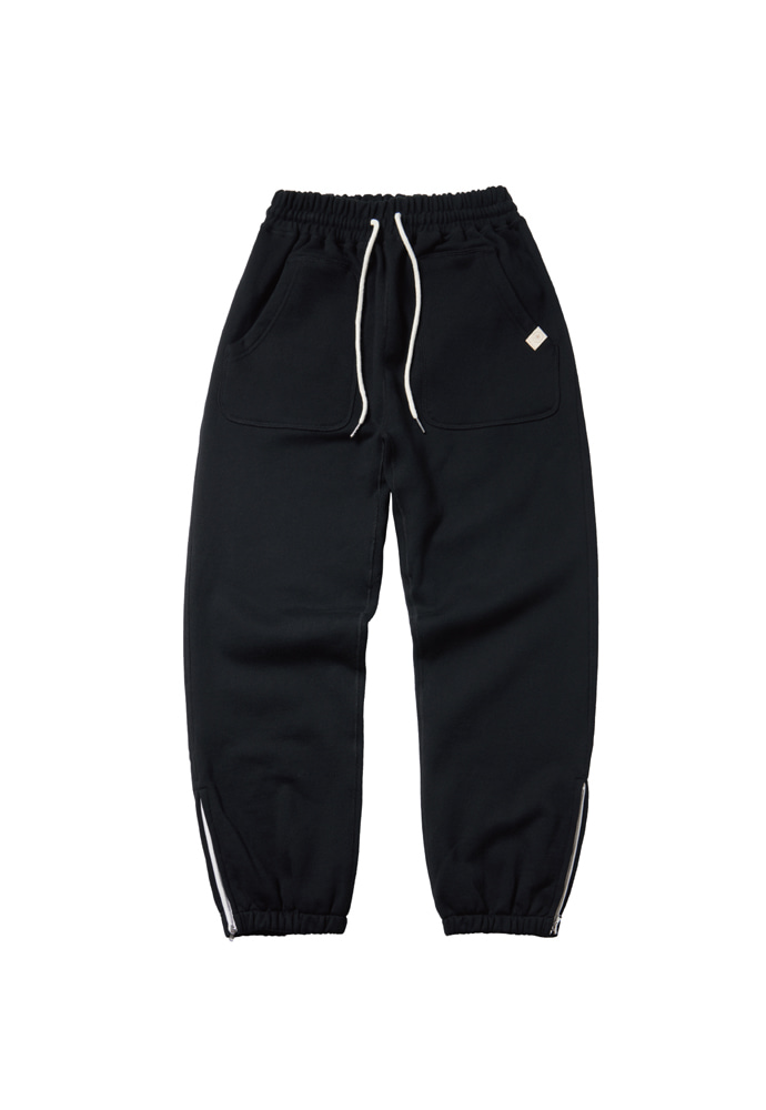 Ramolin라모랭 RML Side Zip-Up Sweatpants(Lampo) Black