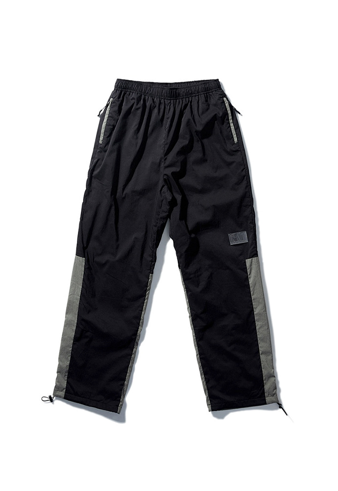 NOMANUAL노메뉴얼 NM PATCH TRAINING PANTS - BLACK