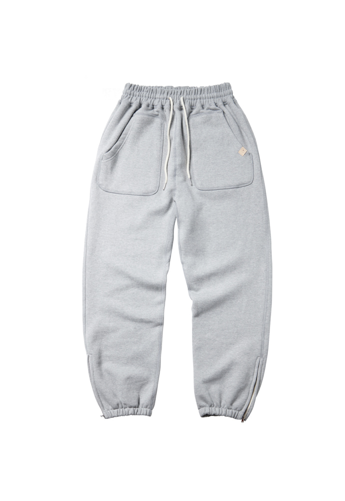 Ramolin라모랭 RML Side Zip-Up Sweatpants(Lampo) Gray