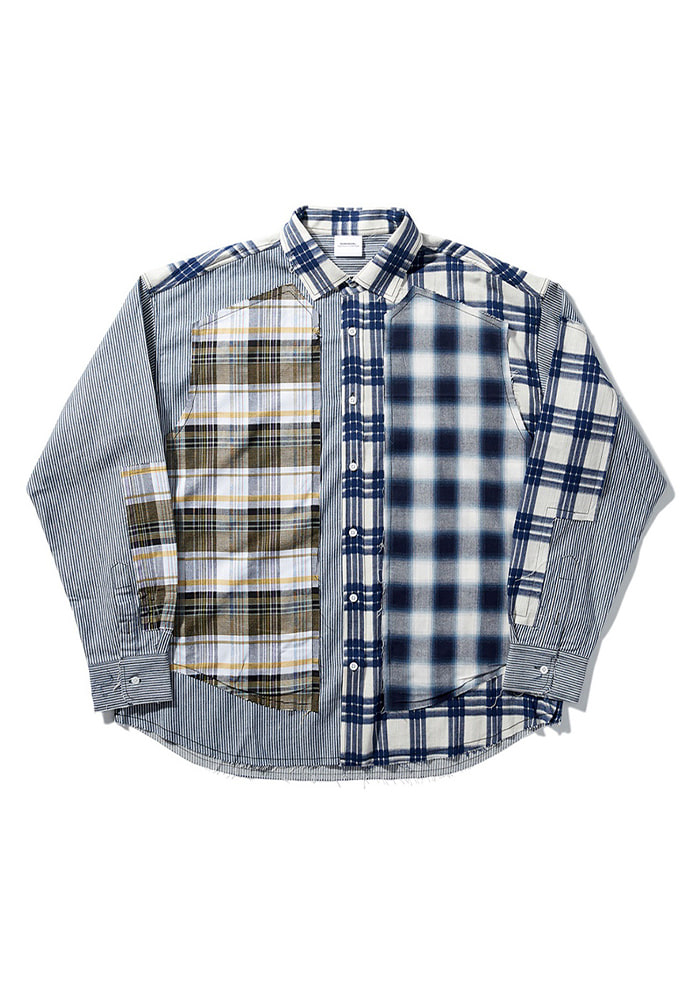 NOMANUAL노메뉴얼 ROUGH CHECK SHIRT - TYPE I