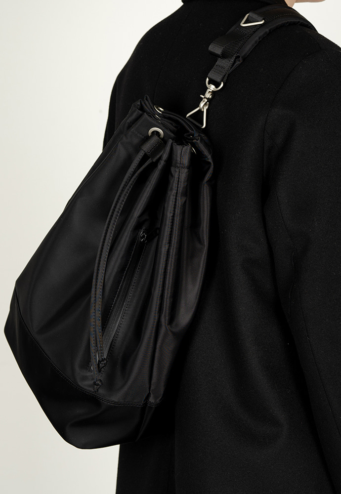 HAH ARCHIVE하 아카이브 [2차 예약배송 1/22] 2WAY WATERLOO BLACK NYLON DUFFLE BAG