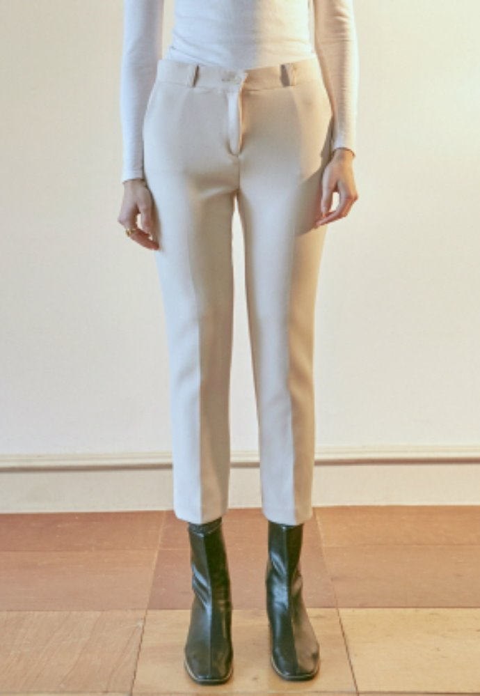 Nicknnicole닉앤니콜 SIENNA STRAIGHT SLACKS_CREAM
