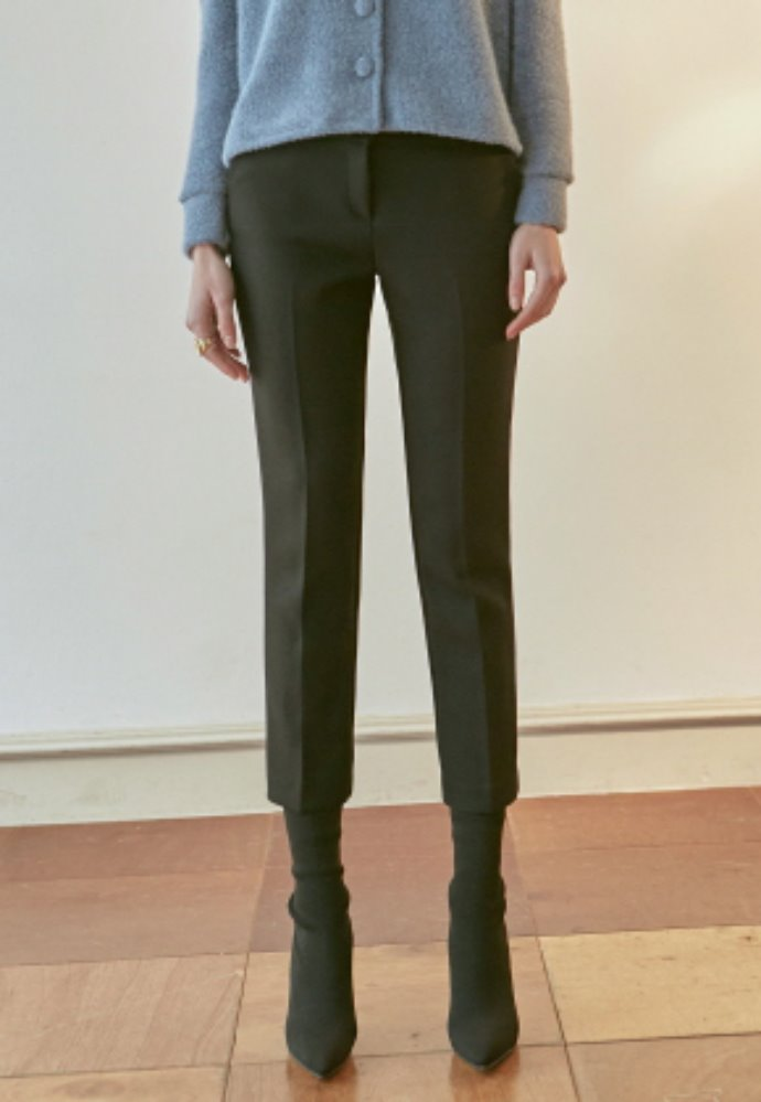 Nicknnicole닉앤니콜 SIENNA STRAIGHT SLACKS_BLACK