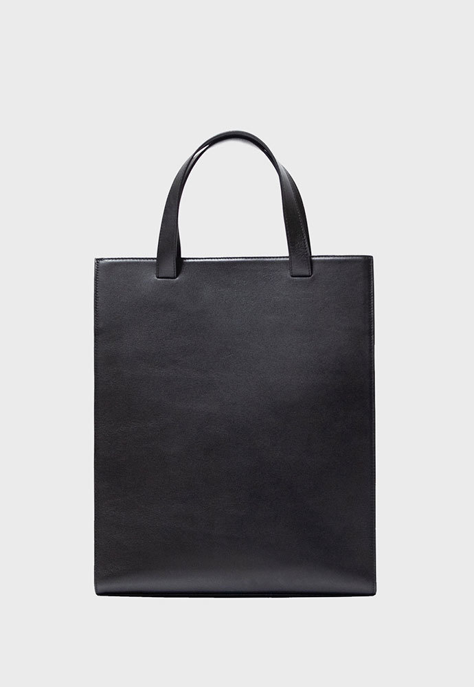 MIM THE WARDROBE밈더워드로브 Minimal 2-Way Leather Tote Bag