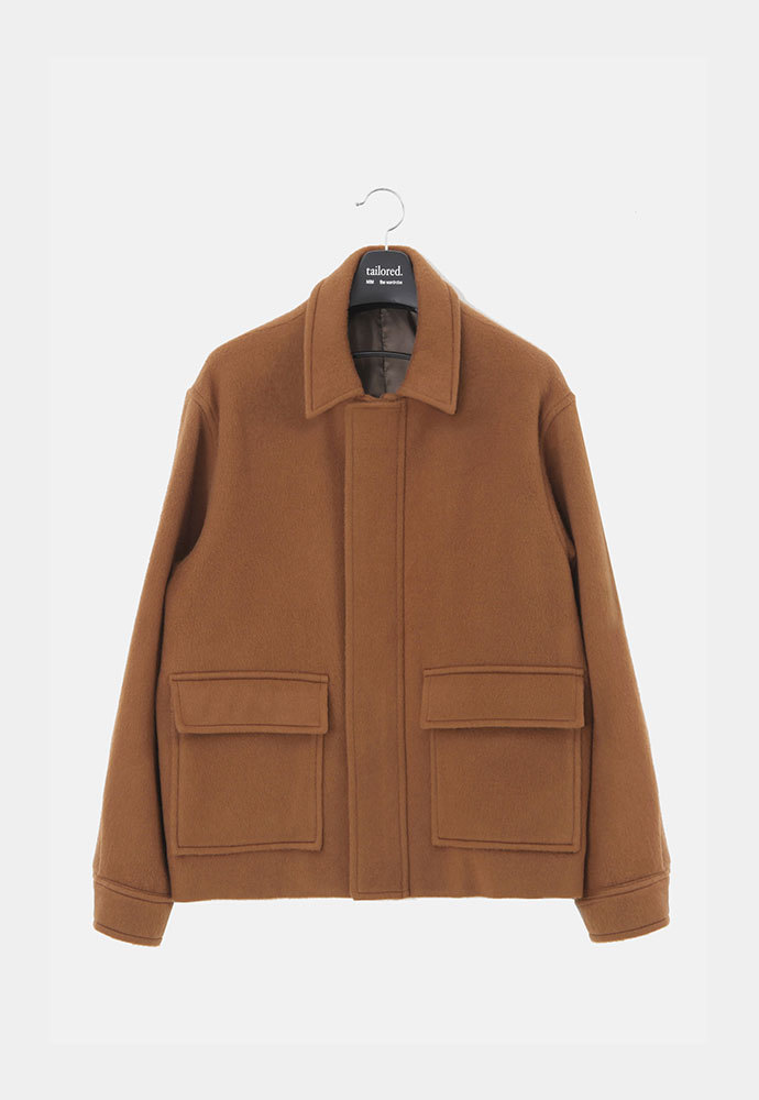MIM THE WARDROBE밈더워드로브 Wool Racoon Shearling Jacket_Brown