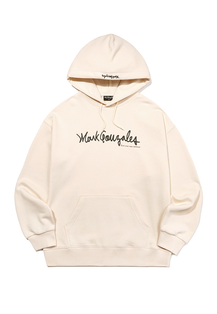 Markgonzales마크곤잘레스 MARK GONZALES HOODIE IVORY (20ss)