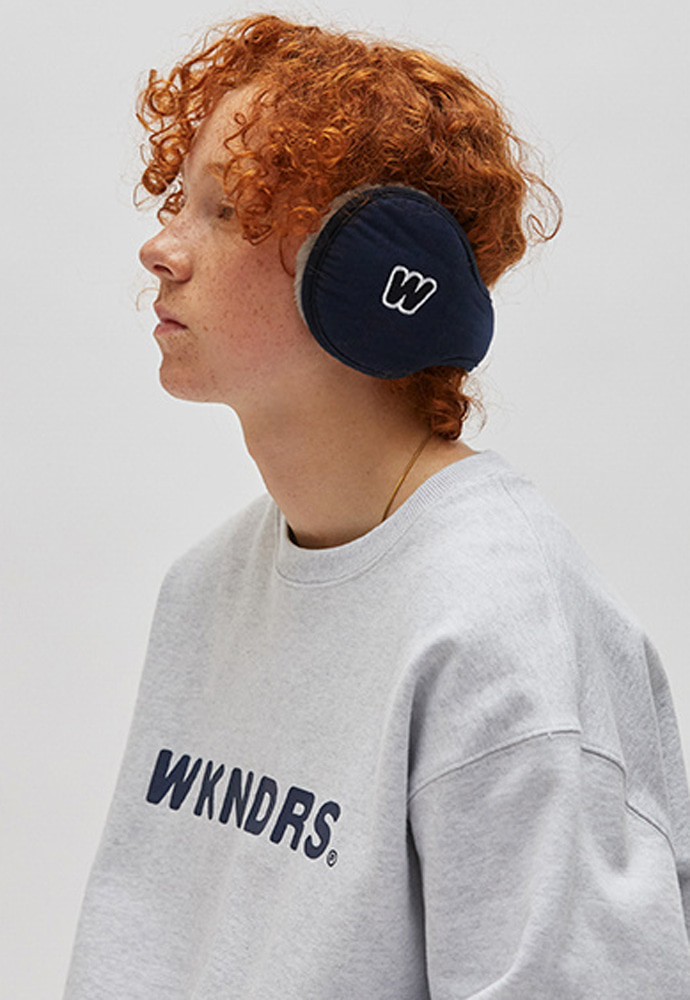 WKNDRS위캔더스 19FW WKNDRS EAR MUFFS (NAVY)