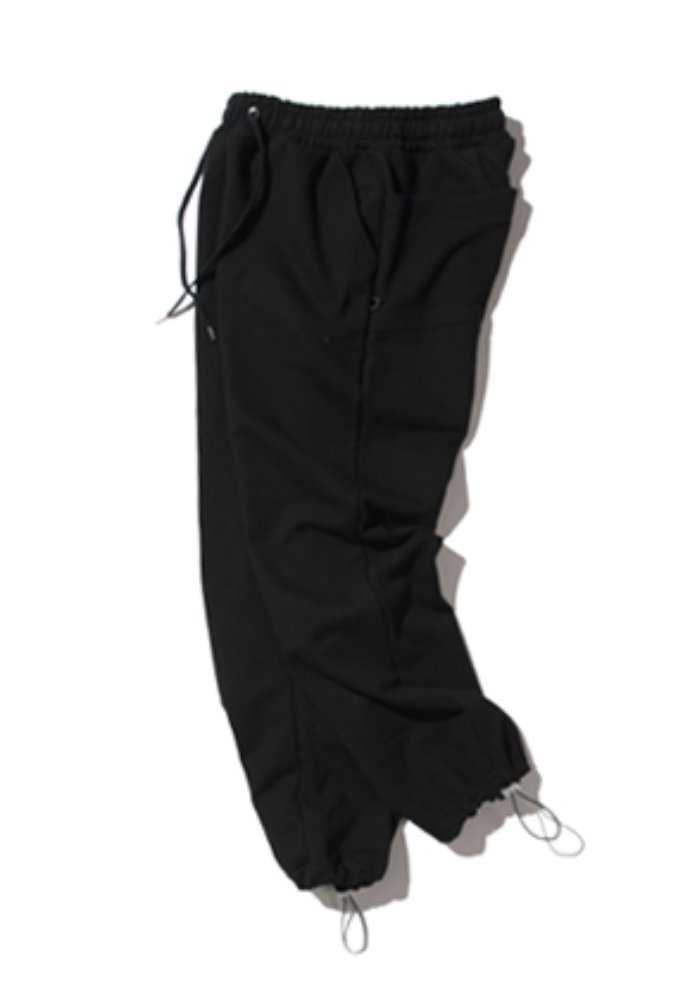 Kruchi크루치 Keyring sweat pants - (black)
