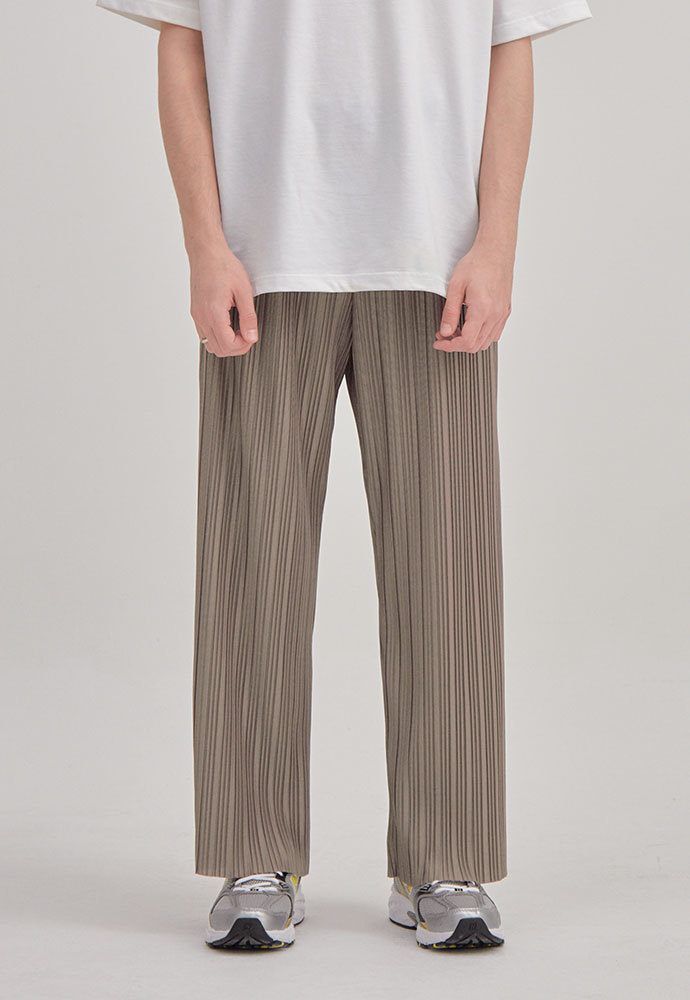 ENOU에노우 PLEATED PANTS[BEIGE]