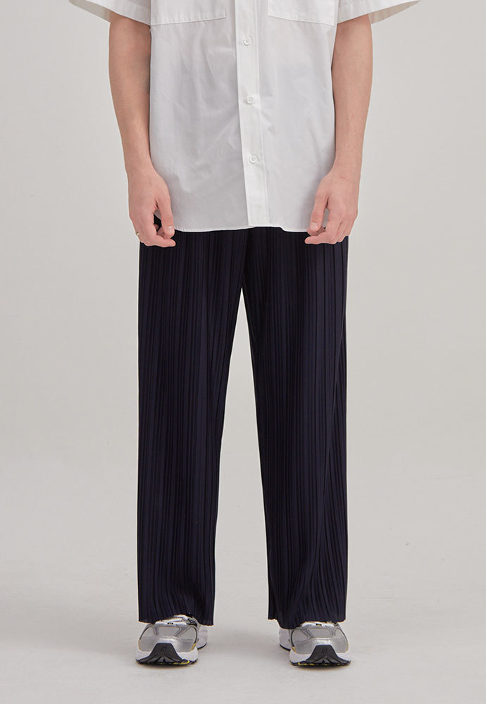 ENOU에노우 PLEATED PANTS[NAVY]
