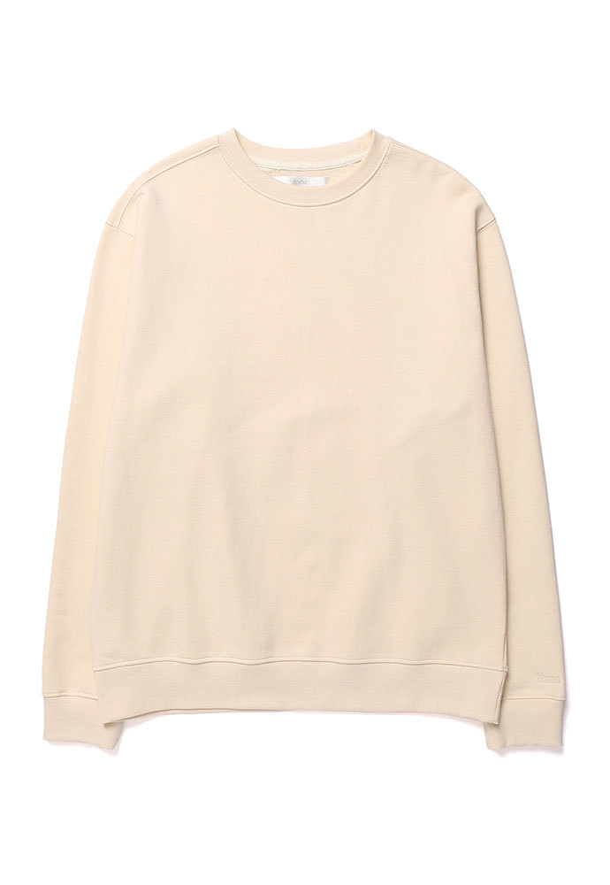 ENOU에노우 SOFT COTTON SWEATSHIRT[CREAM]