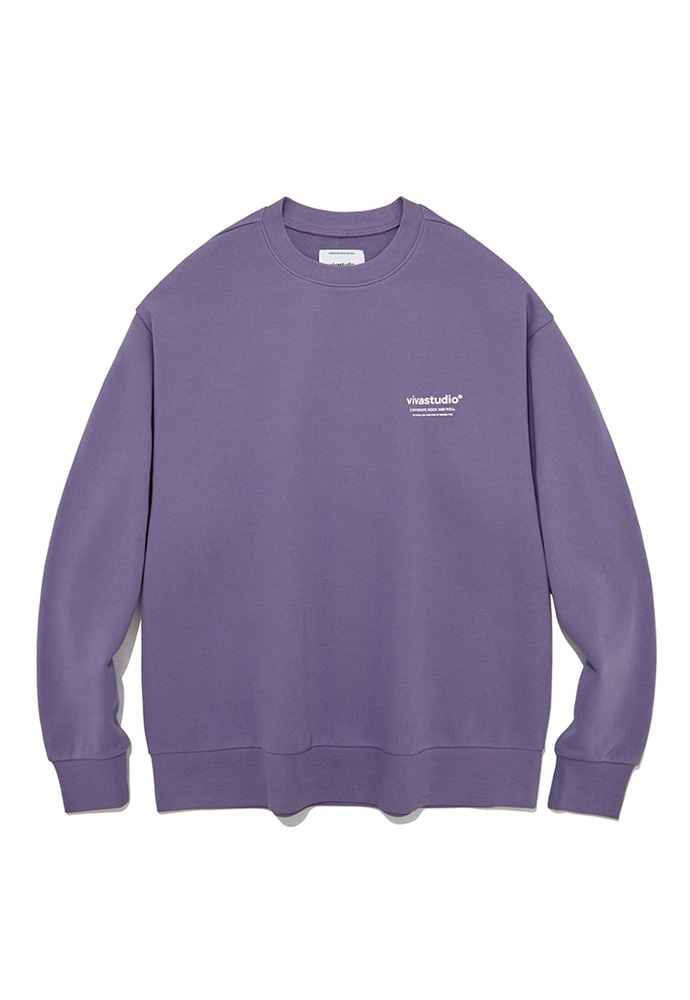 VIVASTUDIO비바스튜디오 LOCATION CREWNECK JS [MIDDLE PURPLE]