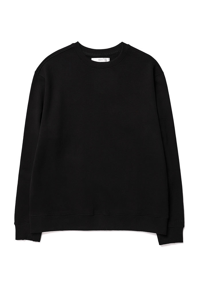 ENOU에노우 SOFT COTTON SWEATSHIRT[BLACK]