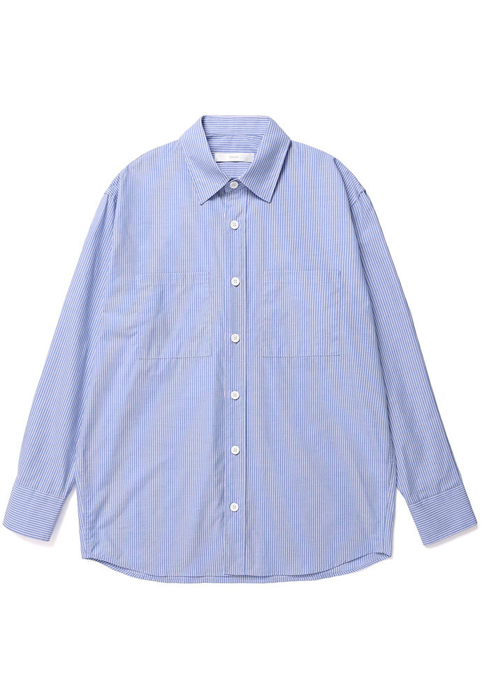 ENOU에노우 OVERSIZED STRIPE SHIRT[BLUE]