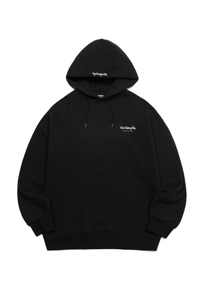 Markgonzales마크곤잘레스 M/G SMALL SIGN LOGO HOODIE BLACK 20SS