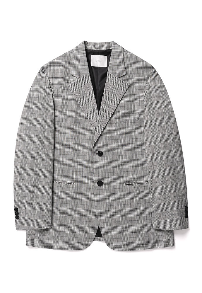 ENOU에노우 2 BUTTON CEHCK JACKET[GLEN CHECK]