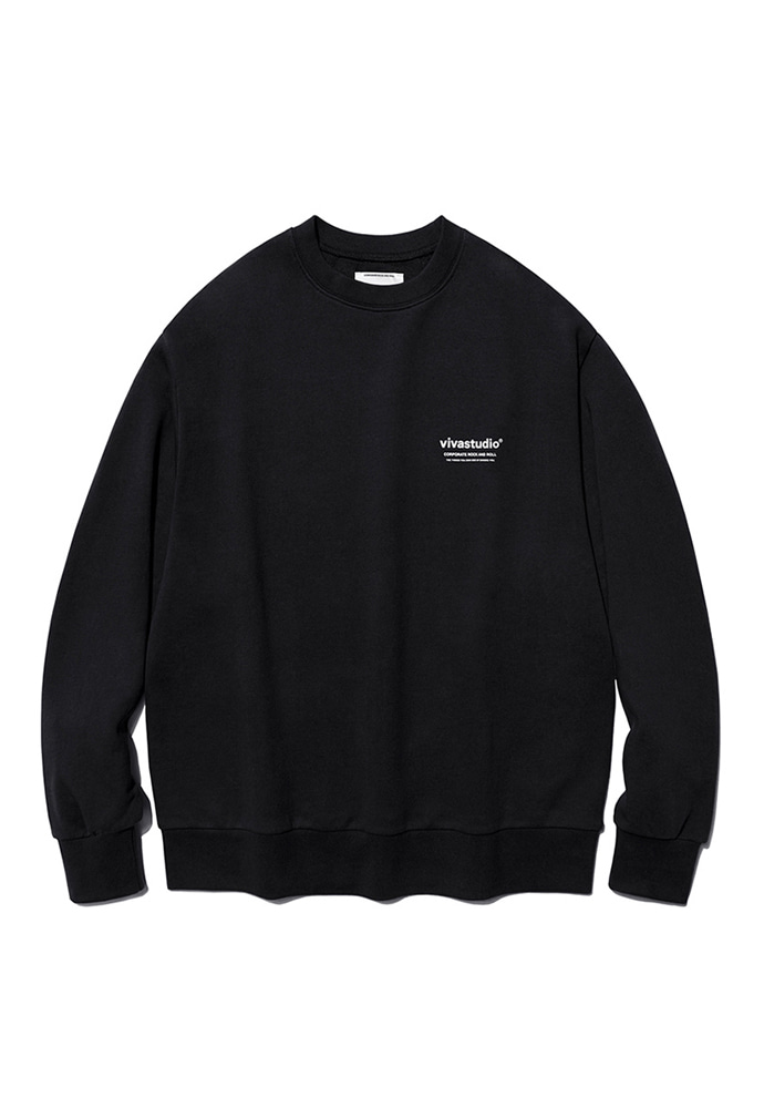 VIVASTUDIO비바스튜디오 LOCATION CREWNECK JS [BLACK]