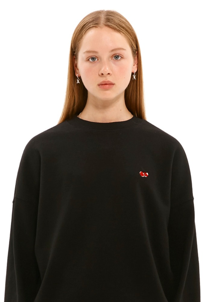 KIRSH키르시 SMALL CHERRY SWEATSHIRT JS [BLACK]