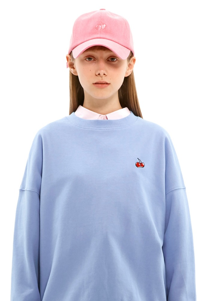 KIRSH키르시 [당일발송] SMALL CHERRY SWEATSHIRT JS [BLUE]