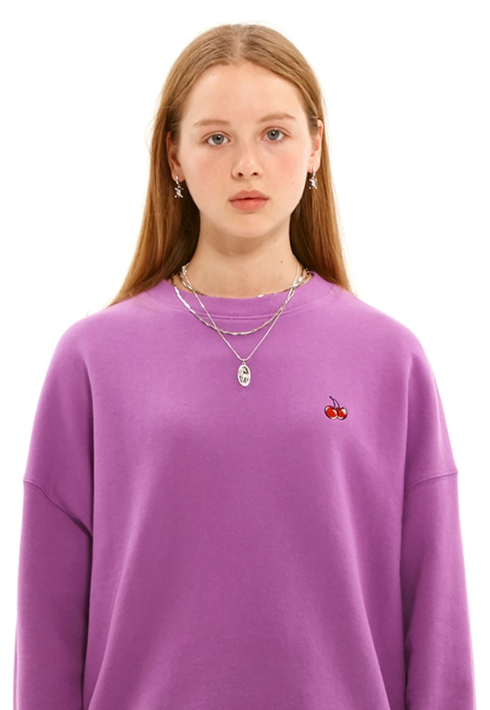 KIRSH키르시 [당일발송] SMALL CHERRY SWEATSHIRT JS [PURPLE]