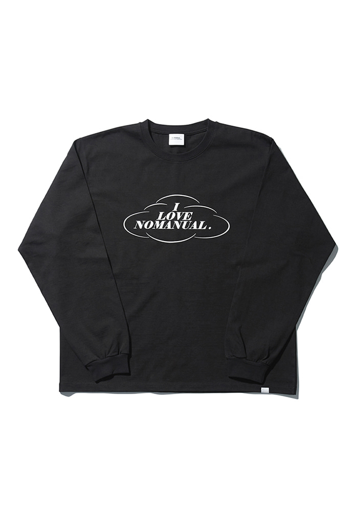 NOMANUAL노메뉴얼 LOVE NOMANUAL LONG SLEEVE TEE - BLACK