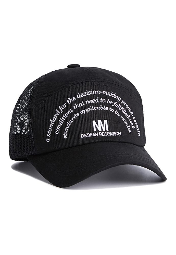 NOMANUAL노메뉴얼 NM RESEARCH BALL-CAP - BLACK