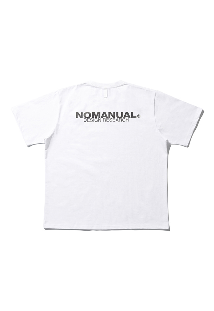 NOMANUAL노메뉴얼 D.R PATCH LOGO T-SHIRT - WHITE