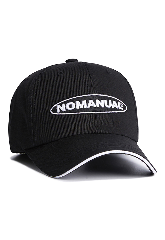 NOMANUAL노메뉴얼 CIRCLE LOGO BALLCAP - BLACK