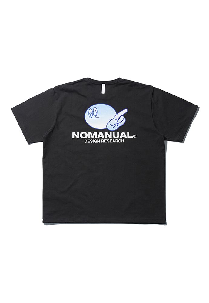 NOMANUAL노메뉴얼 (3월 6일 발송) LOGO PATCHED T-SHIRT - BLACK