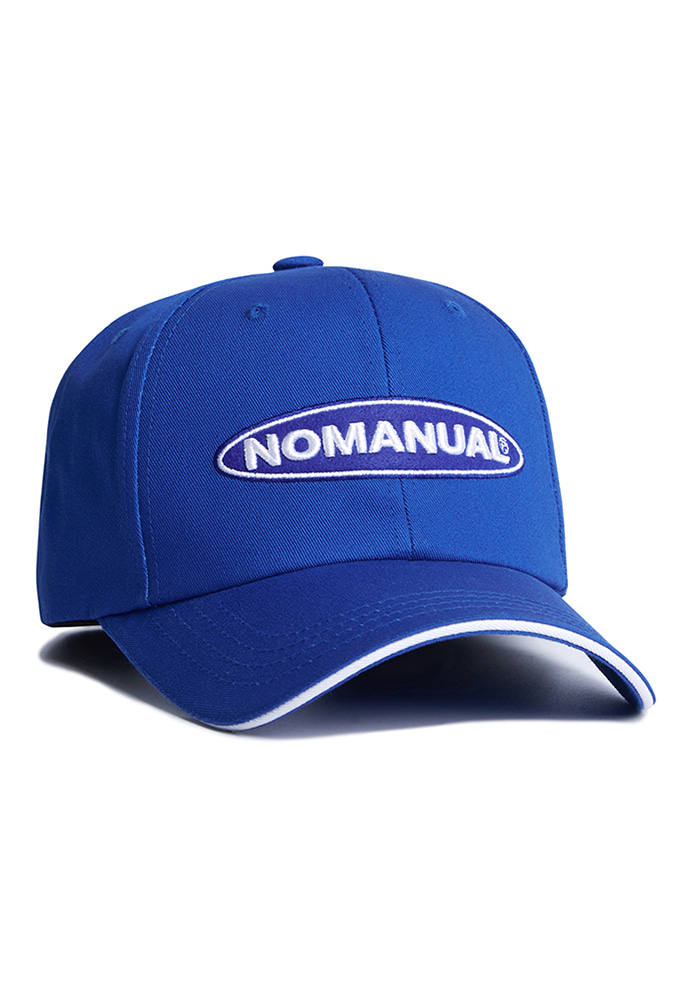 NOMANUAL노메뉴얼 CIRCLE LOGO BALLCAP - BLUE