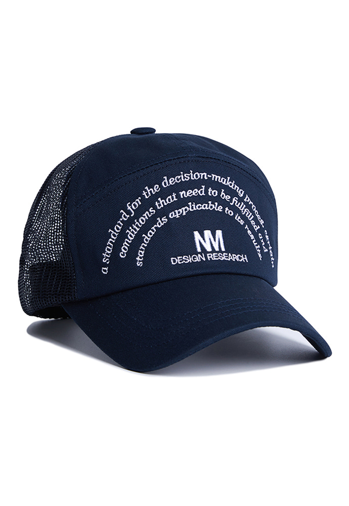 NOMANUAL노메뉴얼 NM RESEARCH BALL-CAP - NAVY