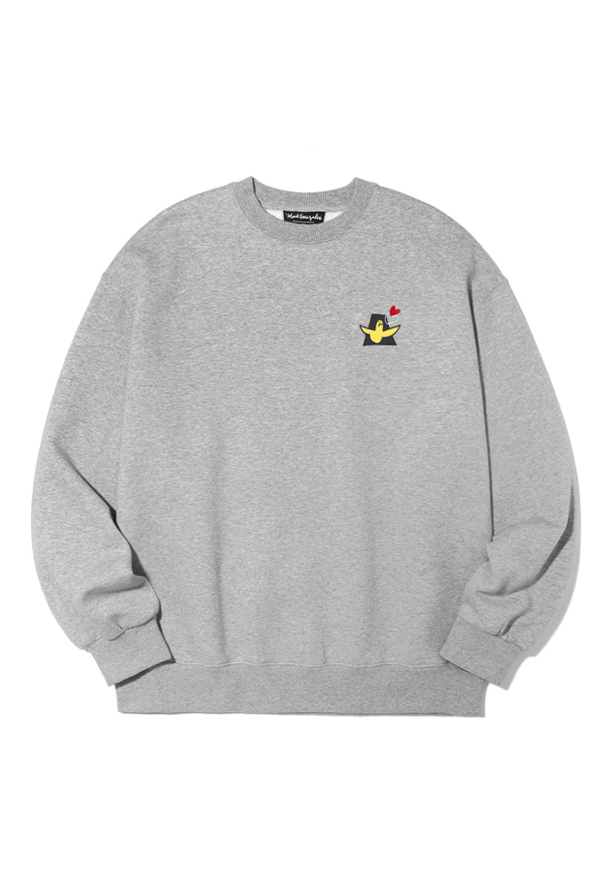 Markgonzales마크곤잘레스 M/G LOVE ANGEL CREWNECK GRAY