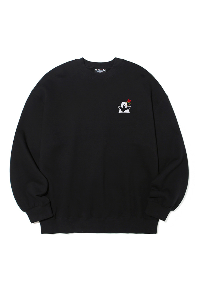 Markgonzales마크곤잘레스 M/G LOVE ANGEL CREWNECK BLACK