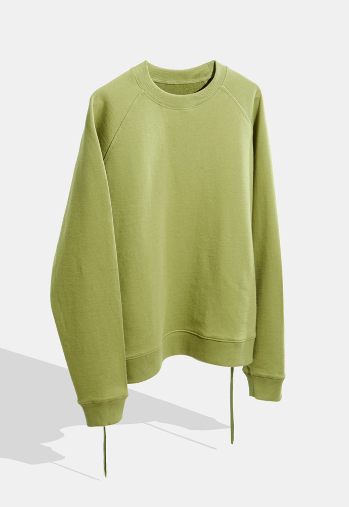 YOUTH유스랩 Side Zip-up Sweatshirt Green