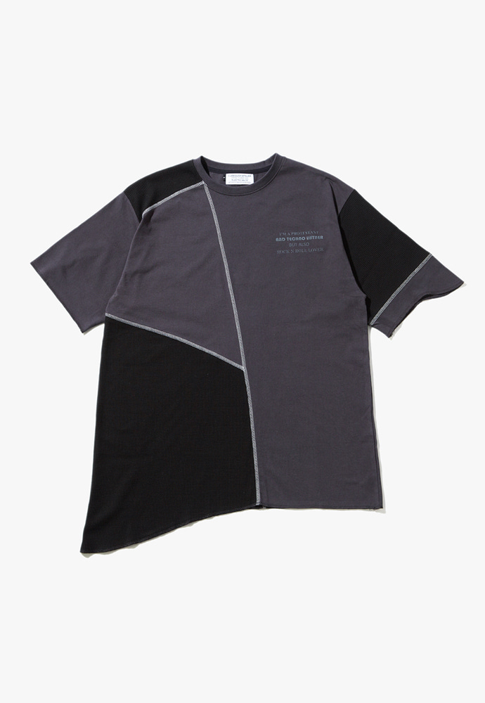 JOEGUSH조거쉬 U/Mixed T-shirts (Black)