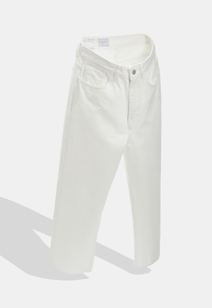YOUTH유스랩 Wide Denim Pants White