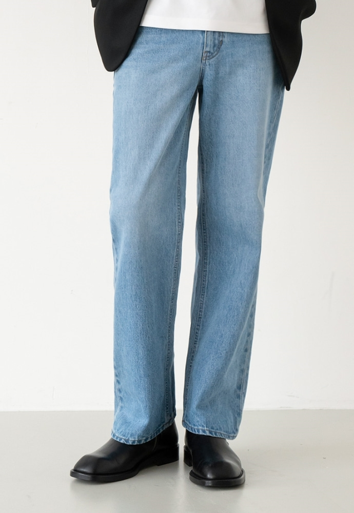 Garment lable가먼트레이블 GL Wide Jeans - Mid Blue / Wide