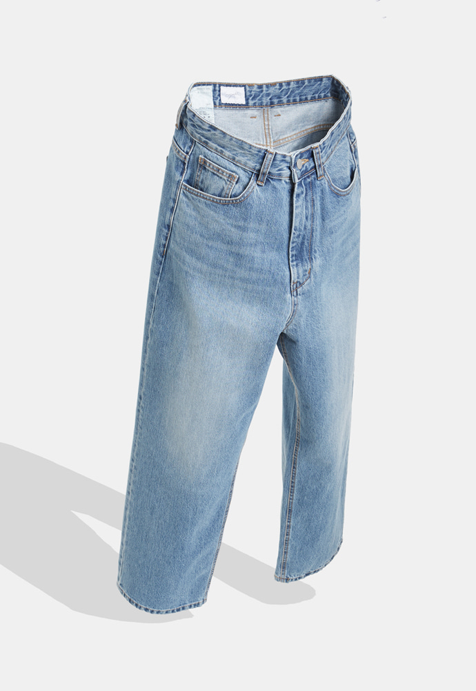YOUTH유스랩 (당일발송) Wide Denim Pants Medium Blue