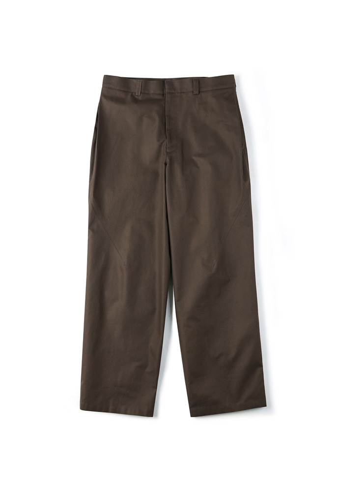 Shirter셔터 SIDE TUCK WIDE PANTS DARK BROWN